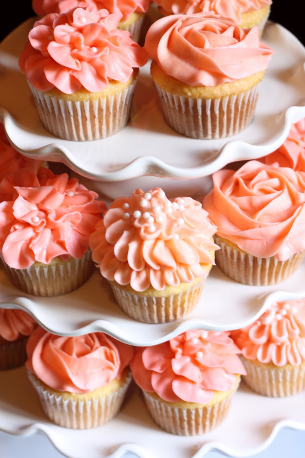 13-coral-color-cake-cupcakes-photo-coral-cupcake-wedding-cake-peach-wedding-cupcakes-and