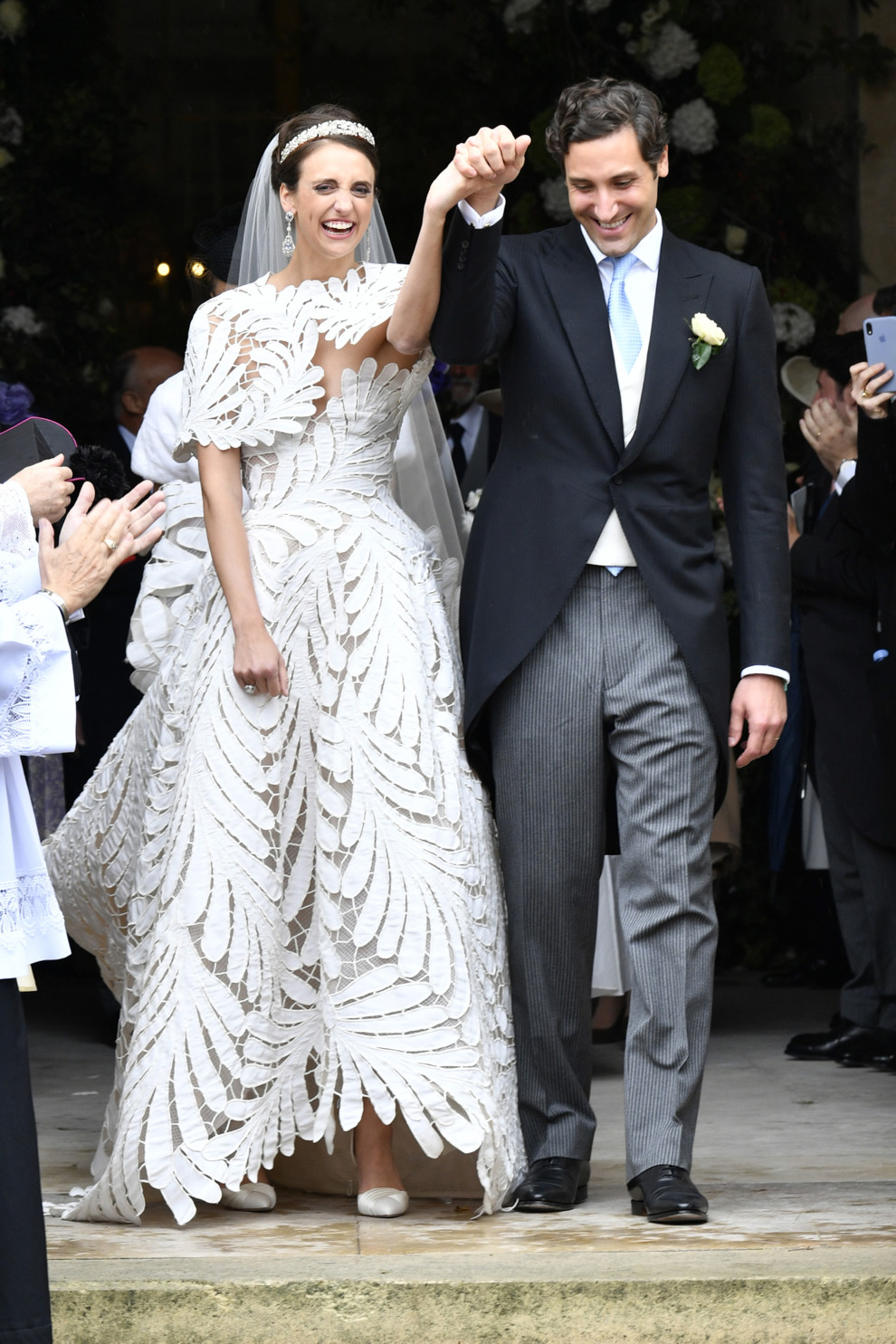 Royal-Wedding-Olympia-Von-Und-Arco Zinneberg Got Married In An Oscar De La Renta Dress